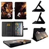TPU Shell Case for All-New Amazon Fire HD 8 / HD 8 Plus (10th Gen. 2020) Brown Horse Slim PU Leather Folding Stand Cover with Auto Wake/Sleep for 8 Inch