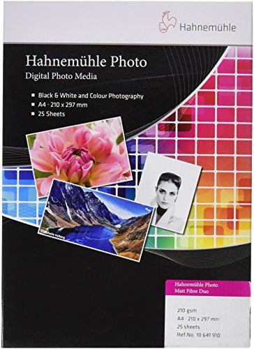 Hahnemühle Photo Matt Fibre Duo papier, 210 g/m2, natuurlijk wit 210 x 297 mm natuurlijk wit
