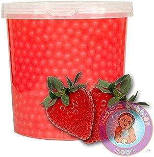 Popping Strawberry Boba 42 Ounces / 12+ Drinks Buddha Bubbles Boba