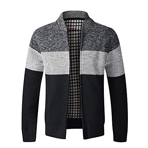 Abrigo de suéter para hombre Primavera Otoño con capucha