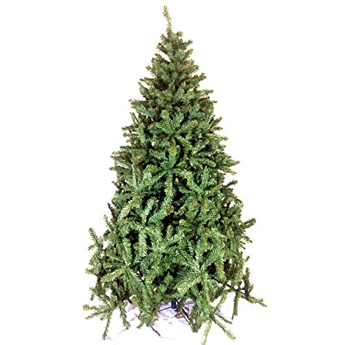 Scaramuzza Modo Albero di Natale 210 cm in Silicone e PVC, Realistico, Gardenia, Apertura ad Ombrello, 1174 Punte, Molto Folto