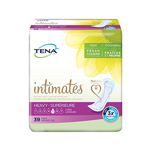 Tena Intimates Pads Long, Heavy Absorbency,39 count