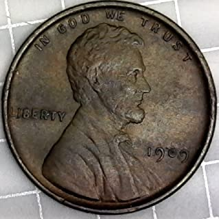 1909 P Lincoln VDB (Red/Brown) Wheat Penny Cent MS-65