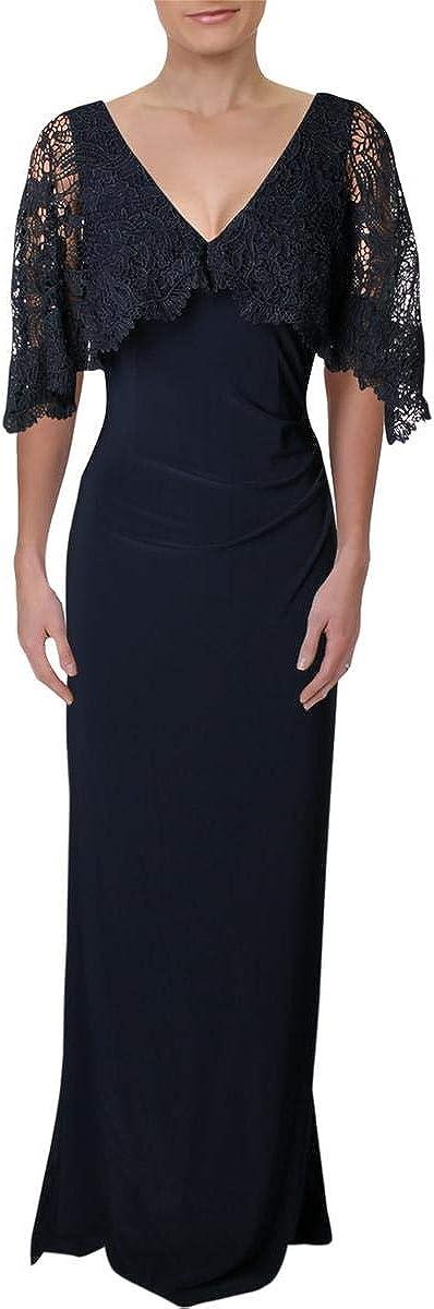 Lauren by Ralph Lauren Women's Lace-Overlay Jersey Gown
