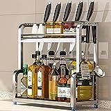 DTKJ Estante de almacenamiento de cocina multifuncional para mesa de cocina estante de almacenamiento de perforación multifuncional sin funciones 30X22X41CM (12x9x16')