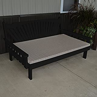 A & L Furniture Yellow Pine Fanback Daybed, 4', Mushroom Stain