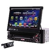Android 10.0 OS Car DVD estéreo Navegación GPS Pantalla táctil de 7 Pulgadas Radio de Coche Solo DIN 1GB RAM 32GB ROM Reproductor de DVD Autoradio Receptor FM/Am Mirror Link Cámara WiFi