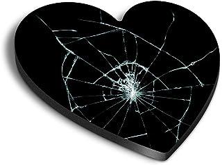 Destination Vinyl ltd Aimants en MDF en forme de cœur – Verre cassé cassé pour bureau, armoire et tableau blanc, autocolla...