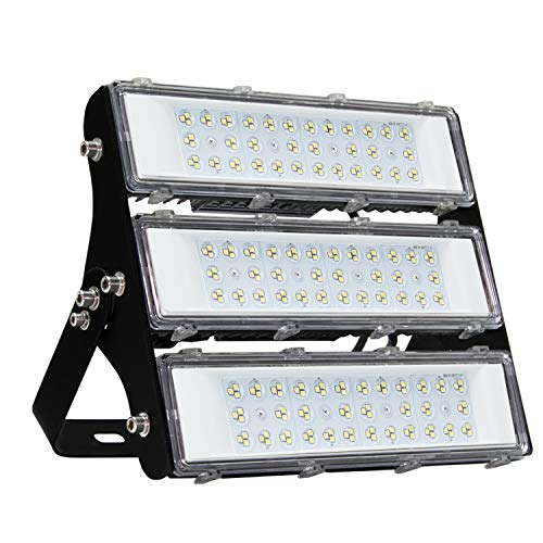 150W LED Flood Light Outdoor with Driver, 2,1000lm Super Bright Security Lights, IP66 Waterproof Outdoor Flood Light, 6500K Daylight White Floodlight for Yard, Garden, Playground, Basketball Court
