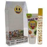 Emoji Whazz Up 2 Stück Mini Geschenkset für Kinder, Rollerball Parfüm, Duschgel, 2 Stück