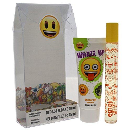 Emoji Whazz Up Mini-cadeauset voor kinderen, rollerball parfum, douchegel, 2 stuks