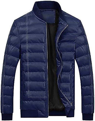 L'hiver Un Manteau d'hiver Veste Coton, Coton Cuirs Hommes Les Hommes,Deep bleu,XXL