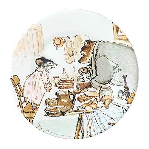 Petit Jour Paris Mimmi and Brumm Assiette en mélamine 20 cm – Assiette pour enfant en plastique mélaminé – Multicolore – Sans BPA