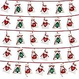 CUHAWUDBA Weihnachten Adventskalender 11X16Cm Geschenk TüTe DIY Filz Countdown Kalender Datum 1-31 Neujahr Weihnachten Deko