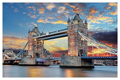 Puzzlespiele für Kinder Alter 4-8-Puzzles für Jugendliche, Puzzles für Senioren, Weihnachts-Puzzles 1000 Stück für Erwachsene, London Bridge, 50x75cm