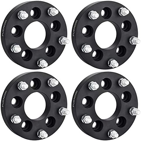 PUENGSI 1 25 32mm 4PCS 5 Lug Wheel Spacer 5x4 5 to 5x5 5 73mm Black Wheel Spacers Adapters Fit product image