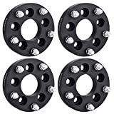PUENGSI 5 Lug Wheel Spacer 1.25'(32mm) 5x4.5 to 5x5.5 73mm 4PCS Black Wheel Spacers Adapters Fit for Mazda B4000 B3000 Mercury Mountaineer Ford Mustang Jeep Wrangler with 1/2' Studs