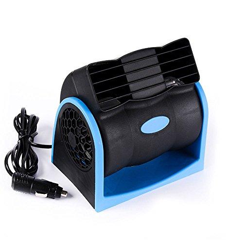 relangce Auto Ventilator Kuehler, Auto Lüfter 12V, Vaneless Kühler Lüfter Mute, einstellbar Geschwindigkeit, Kühler Gebläse Ideal Für Baby Und Haustiere Blau