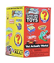 World's smallest blind box Series 3, 1 count Classic toys in miniature form in this world's smallest mystery box Series 3 Includes: Stretch Armstrong, Toss Across, Rock 'em Sock 'em Robots, Hot Wheels, My Little Pony, Uno, Crocodile Dentist, Silly Pu...