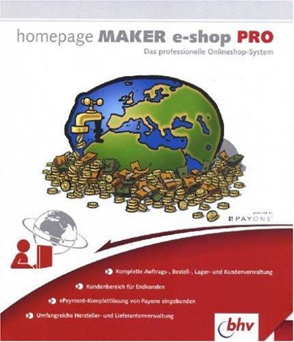 Homepage Maker E-Shop PRO