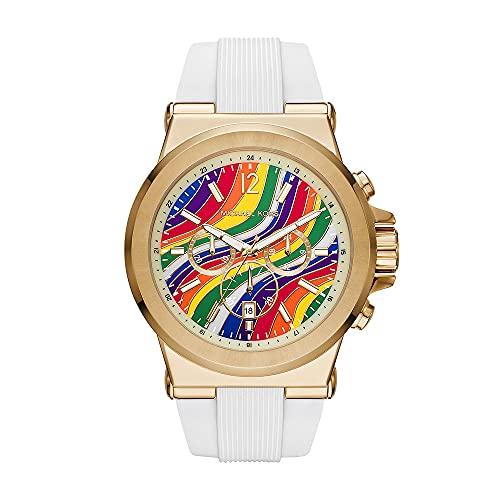 Michael Kors Mens Analog Quartz Uhr mit Silicone Armband MK8897