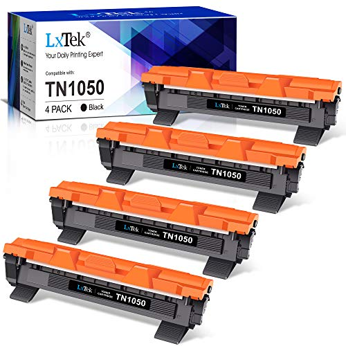 LxTek Kompatibel Ersatz für Brother TN1050 TN 1050 TN-1050 Toner für Brother DCP-1510 DCP-1610W DCP-1612W HL-1110 HL-1112 DCP-1512 HL-1210W HL-1212W MFC-1910W MFC-1810 (4 Schwarz)