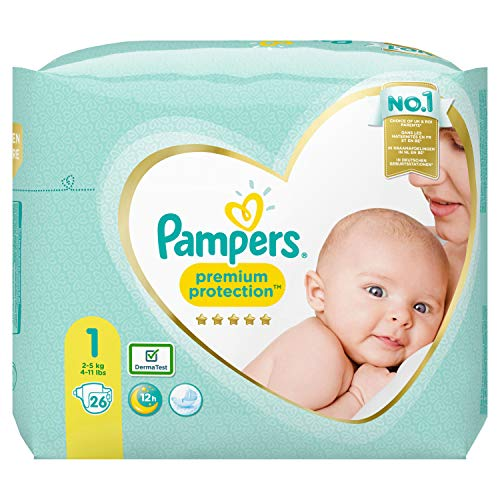 Pampers Premium Protection Taille 1, 26 couches, 2-5 kg.