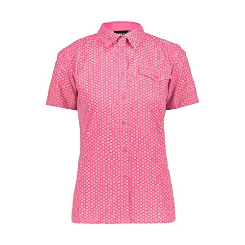 CMP Damen Bluse mit Fiorellini Dry Function, Damen, Hemd, 30T7966, Bouganville-Leaf, D48