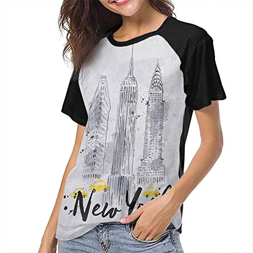 Watercolor Women Short Sleeve Tops 3D Printing Slim-fit Teens