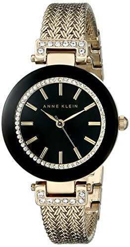 Reloj Anne Klein Swarovski Crystal Accented para Mujer 30mm, pulsera de Acero Inoxidable