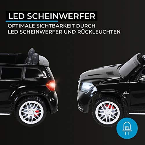 Actionbikes Motors Kinder Elektroauto Mercedes GLS63 Allrad Leder Sitz Kinderfahrzeug Kinderauto 45 Watt 2 Sitzer (Schwarz) - 6