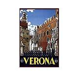 Verona Italien, Vintage-Reise-Poster, Leinwand-Kunst,
