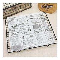 HANGQINGHENG 紙ベーキングツール食品グレードグリース紙パンのサンドイッチバーガーフライドポテトラッパークッキーOilpaperホワイトブラウン (Color : 03 25x25cm)