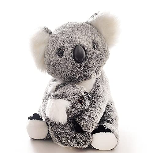 MIUMY Stuffed Animal Koala Bear Mama Koala Hold Baby Koala Plush Toys Soft Long Hair 11Inch