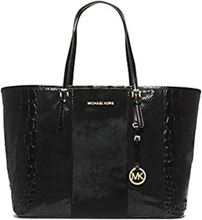 Jet Set Travel Medium Hair Calf and Leather Tote