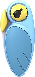 ArtiArt - Cuchillo de fruta plegable | Cuchillo de cerámica | Cuchillo con forma de pájaro | Cuchillo pelador de cocina (azul)