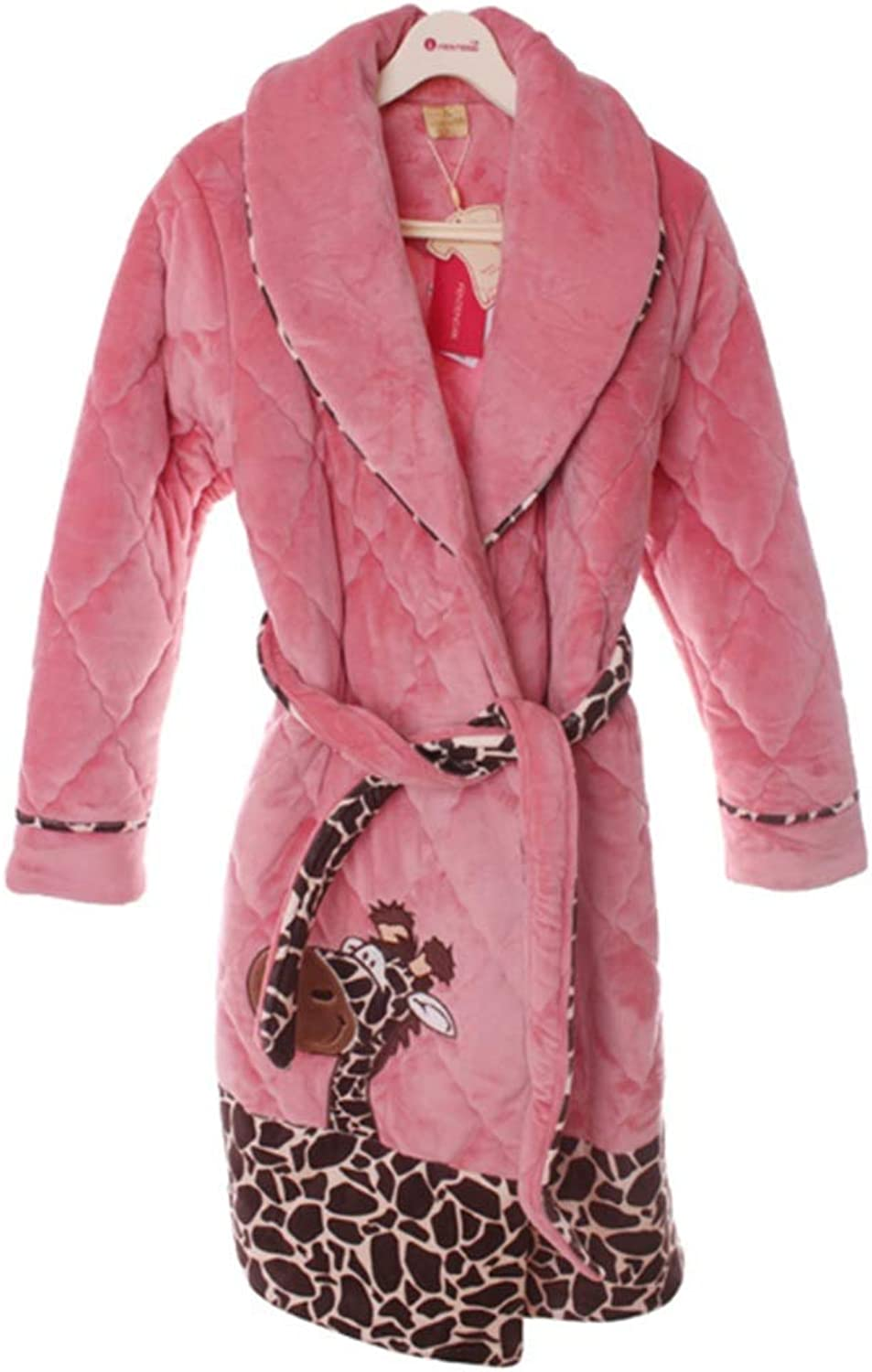 NAN Liang Bathrobe, Women's Thick Tracksuit, 100% Cotton Gown, Soft and Luxurious Robe (Size   L)