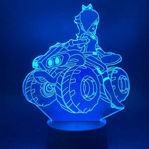 Nachtlampje baby nachtkastje nachtlampje baby nachtkastje meisjes paardrijden Een quad bike 3D illusie nachtlampje voor kantoor thuis werkkamer decoratief licht slaapkamer tafellamp cadeau