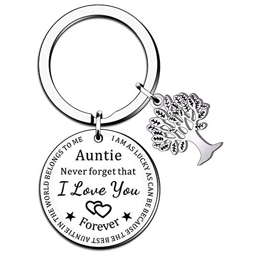 SMARGO Personalised Auntie Keyring Birthday Christmas Presents from Niece Nephew Women Aunty...