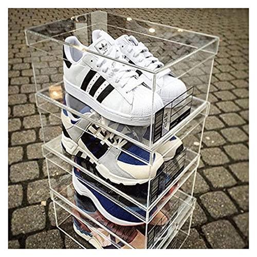 Caja De Zapatos Transparente De Cristal Orgánico, Caja De Almacenamiento De Manos, Colección De Zapatos A Prueba De Polvo Gabinete
