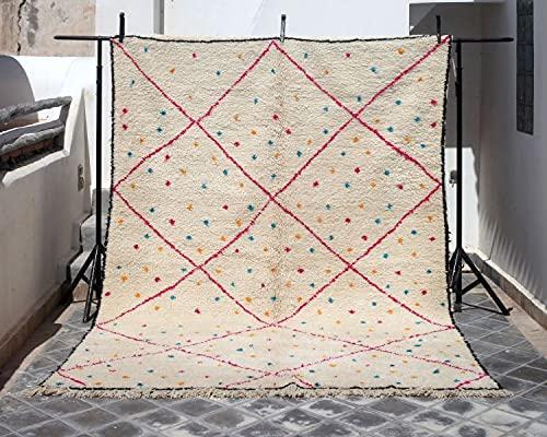Azilal Berberteppich 207 x 300 cm handgewebt Teppich aus hochwertiger Schurwolle (0035)