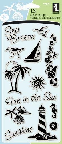 Inkadinkado Nautical Beach Clear Stamp Set, 13pc