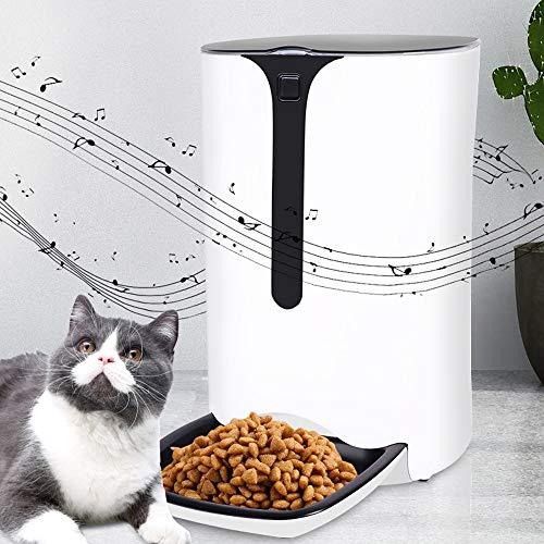 Bxiaoyan 6L große Kapazität intelligente Katze und Hund zeitgesteuerte quantitative Aufnahme Anruffunktion automatische Fütterung abnehmbar und waschbar Dual Power Escort Feeder