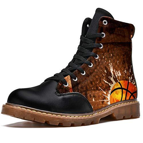 BENNIGIRY Deporte de Baloncesto Botas de Invierno Zapatos clásicos de Lona de caña Alta para Mujer