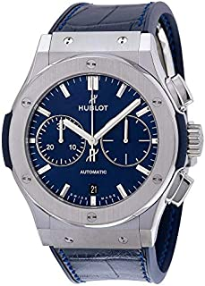 Hublot Classic Fusion Chronograph Men's Blue Dial Leather Band Watch