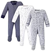 Touched by Nature Baby Organic Cotton Sleep and Play, Constellation, 6-9 Months