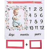 YUESEN Manta de Fotografía Manta Bebé de Hitos Mensuales, Unisex | Regalos Personalizados para Futuras Mamás, Color Aleatorio, 100 * 100cm