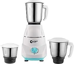 Orient Electric Kitchen Kraft MGKK50B3 Mixer Grinder, 500W, 3 Jars (White)