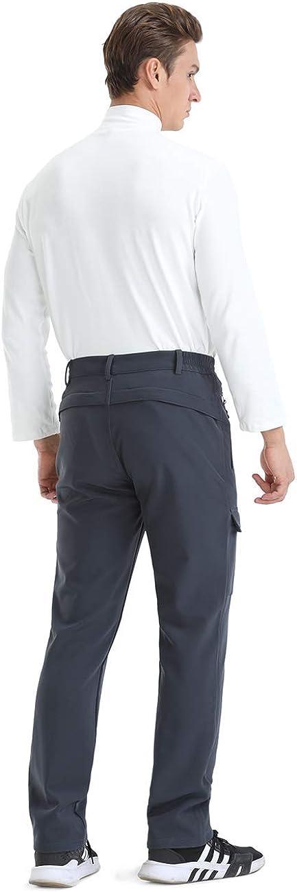 Nonwe Mens Outdoor Winter Water Resistant Fleece Lined Cargo Snow Hiking Pants