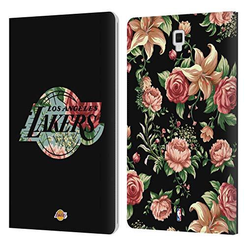 Head Case Designs Ufficiale NBA Floreale 2019/20 Los Angeles Lakers Cover in Pelle a Portafoglio Compatibile con Galaxy Tab S4 10.5 (2018)
